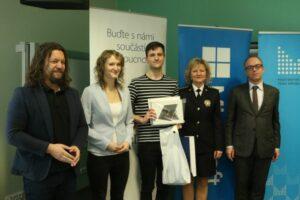 Vítěz soutěžního kvízu KPBI pro žáky a studenty Jan Pitner